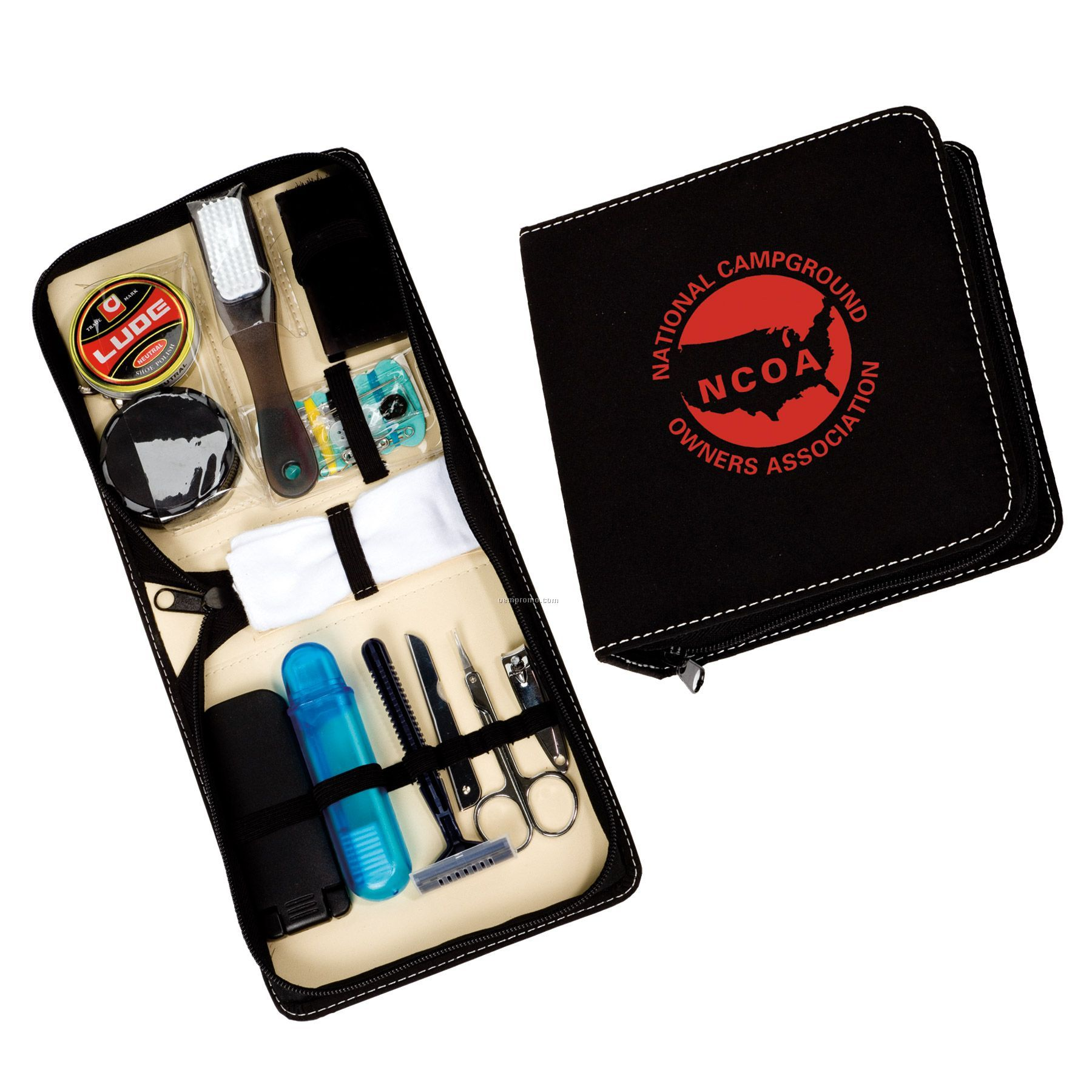 Deluxe Shoe Shine Travel Kit