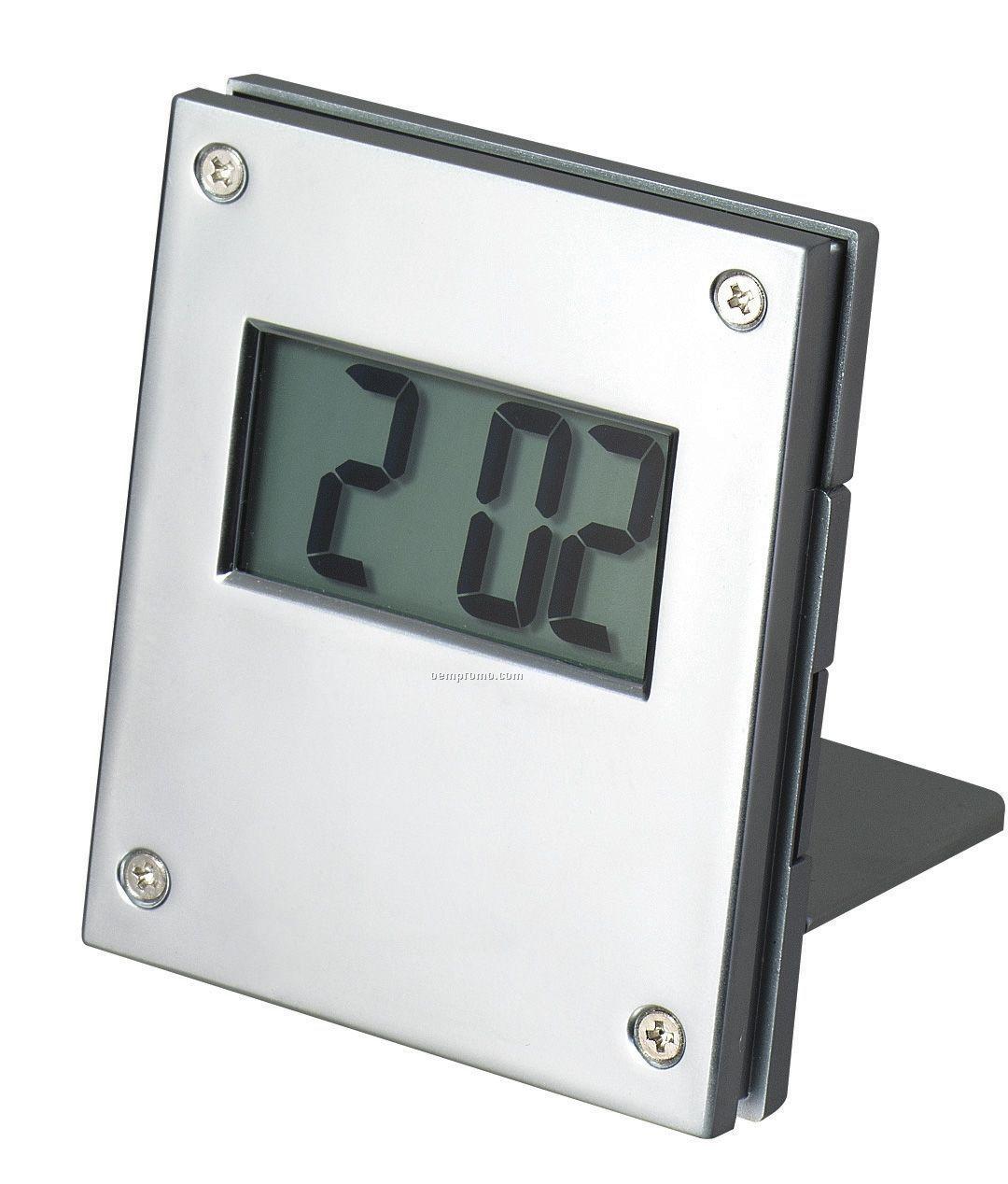 "Metal Alarm Clock - 2-1/4""X3""X3/4"""