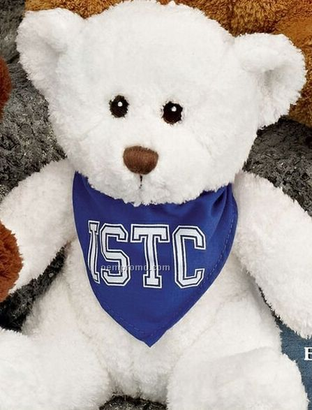 "10"" White Bear Stuffed Animal"