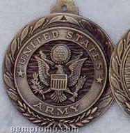 """2.5"""" Stock Cast Medallion (Army)"""