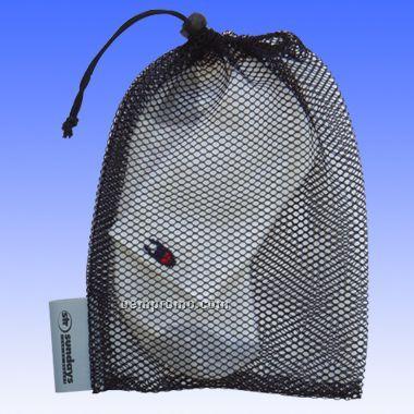 All Purpose Mesh Drawstring Bag With Tag