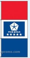 Double Face Dealer Interceptor Drape Flags - Five Star Blue