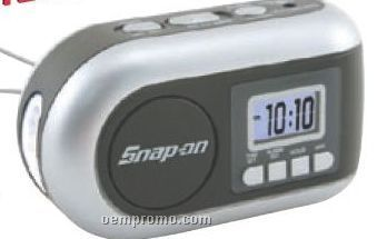 Dynamo Powered AM/ FM Radio/ LED Flashlight With Alarm Clock & Siren