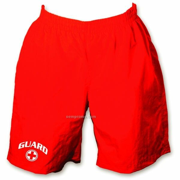 Red Men's Meridian Guard Short W/ Custom Embroidery (S-3xl)