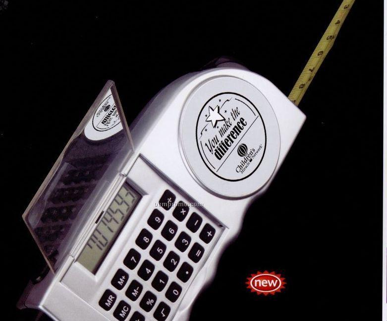 8 Digit Calculator With Measuring Tape & Flashlight