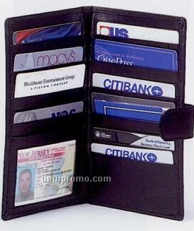 Credit Card Organizer With Check Book & Id Holder