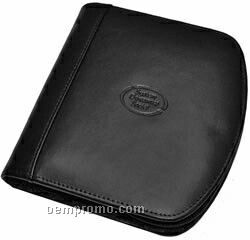 Leather CD Case With Zipper Closure