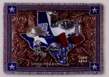 """Tapestry Stock Woven Throws - Lone Star State (53""""X67"""")"""