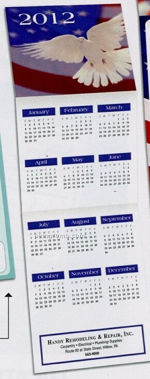 Dove Trifold Calendar (By 05/01/11)