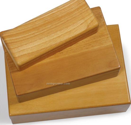 Natural Wood King's Corkscrew Box- Laser Engraved