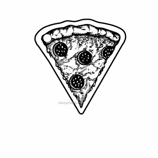 Stock Shape Collection Pizza Slice Key Tag