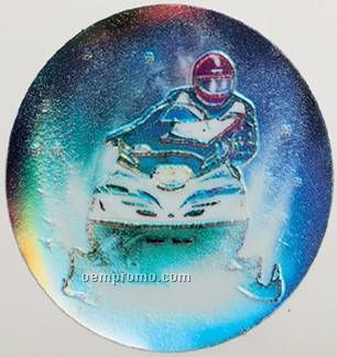 "Holographic Mylar - 2"" Snowmobile"