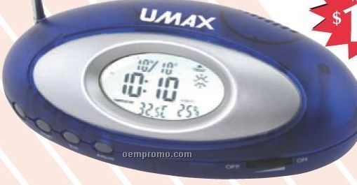Oval Radio With Clock
