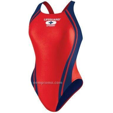 Red/Navy Speedo Quantum Lifeguard Suit (32-40)