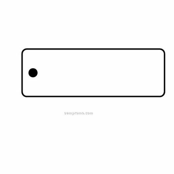Stock Shape Collection Rectangle 15 Key Tag