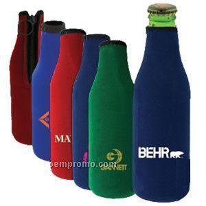 Stubby Bottle Holder W/ Zipper - Direct Import