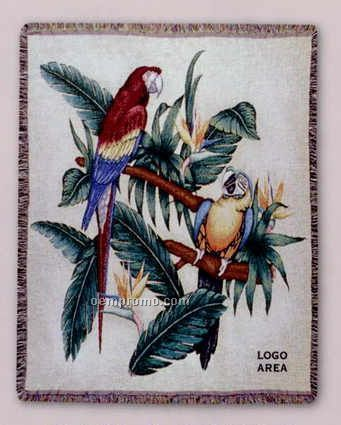 """Tapestry Stock Woven Throws - Jungle Cruise (53""""X67"""")"""