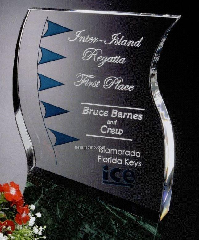 """Verde Gallery Crystal & Marble Rio Verde Award (8"""")"""
