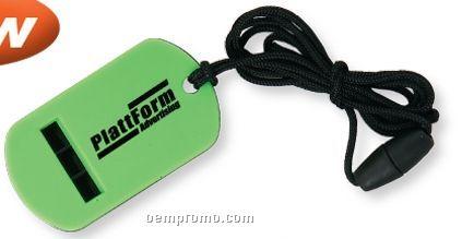 Dog Tag Whistle With Break Away Lanyard