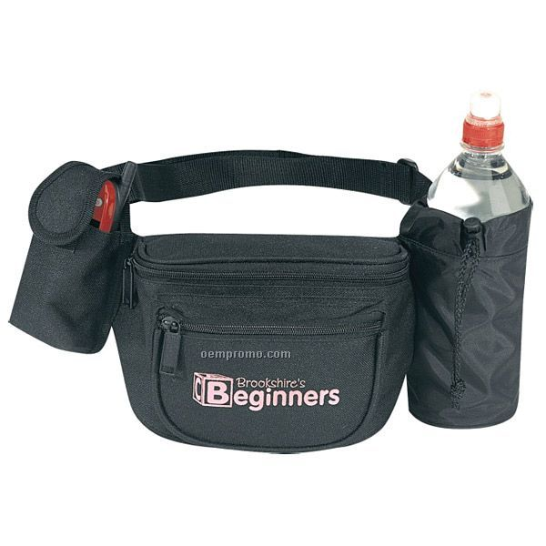 """Fanny Pack W/ Bottle Holder & Cell Phone Pouch (13""""X5-1/2""""X2-1/2"""")"""