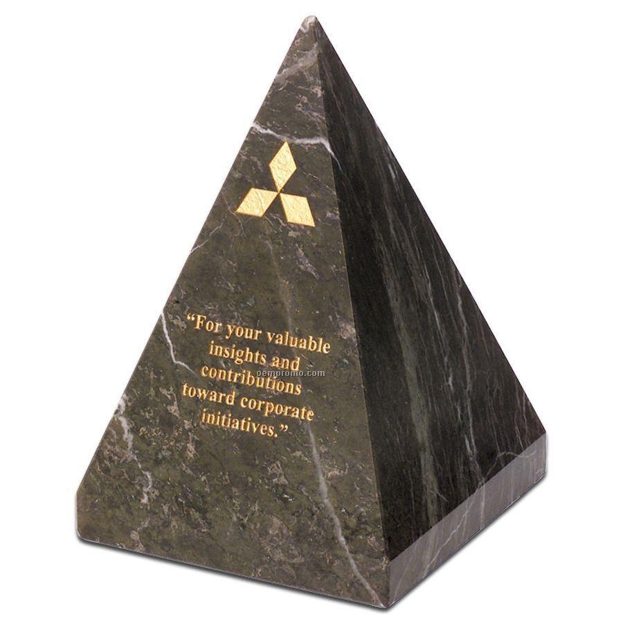 Jade Leaf Marble Pyramid