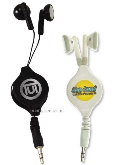 Retractable Audio Ear Buds