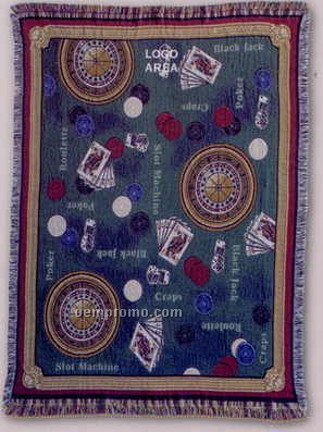 """Tapestry Stock Woven Throws - Casino (53""""X67"""")"""
