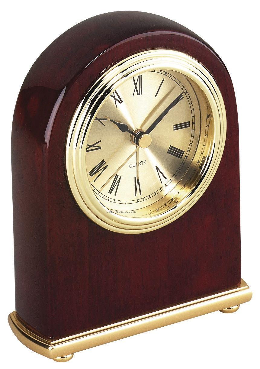 "Wooden Alarm Clock - 4""X5-1/2""X1-3/4"""