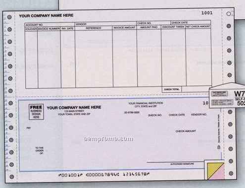 Accounts Payable Check - Continuous (2 Part)