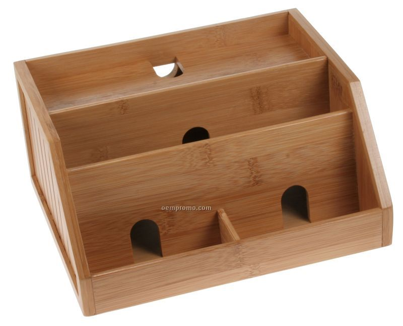 Charging Station Desk Organizer Bamboo