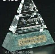 "Verde Gallery Crystal & Marble Vandalia Pyramid Award (7"")"