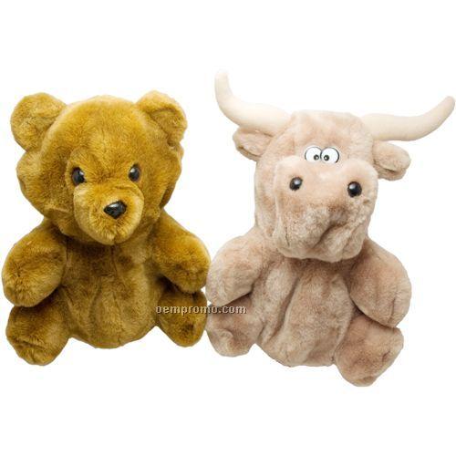 """10"""" Reversible Bear/Bull - Brown"""