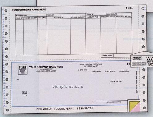 Accounts Payable Check - Continuous (3 Part)