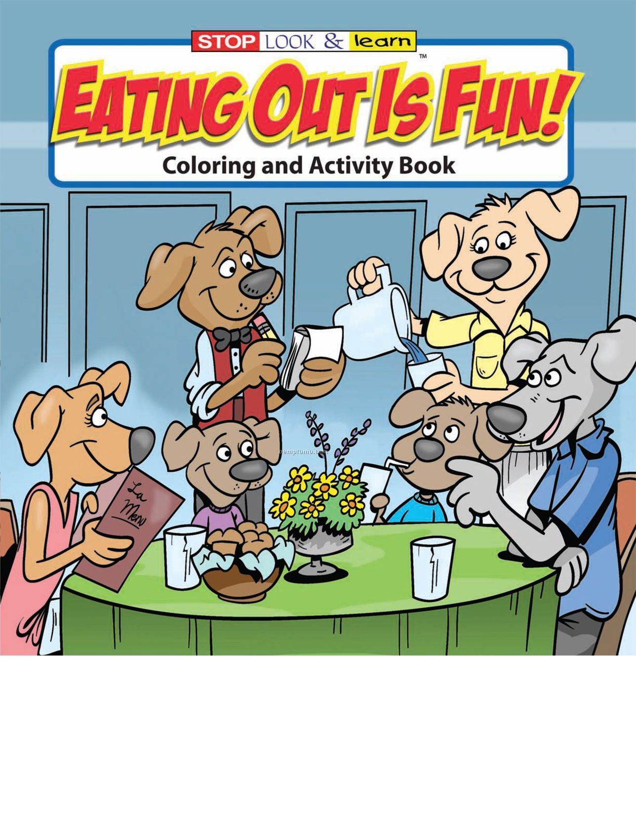 Eating Out Is Fun Coloring Book