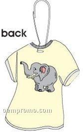 Elephant T-shirt Zipper Pull