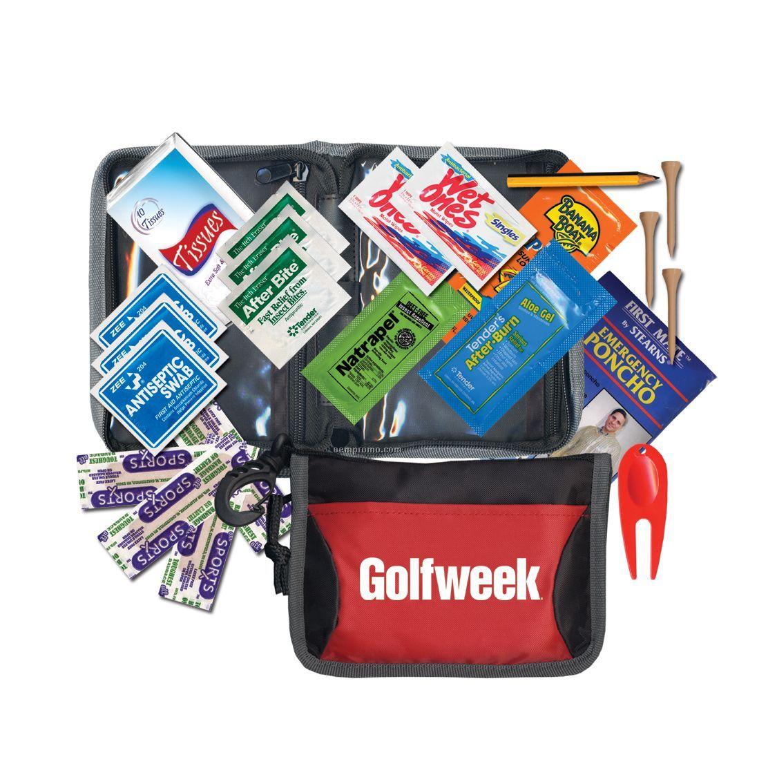 Golf / First Aid Kit W/ Rain Poncho