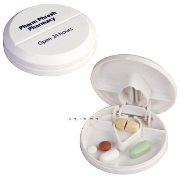 Pill Pal Pill Box W/ Cutter