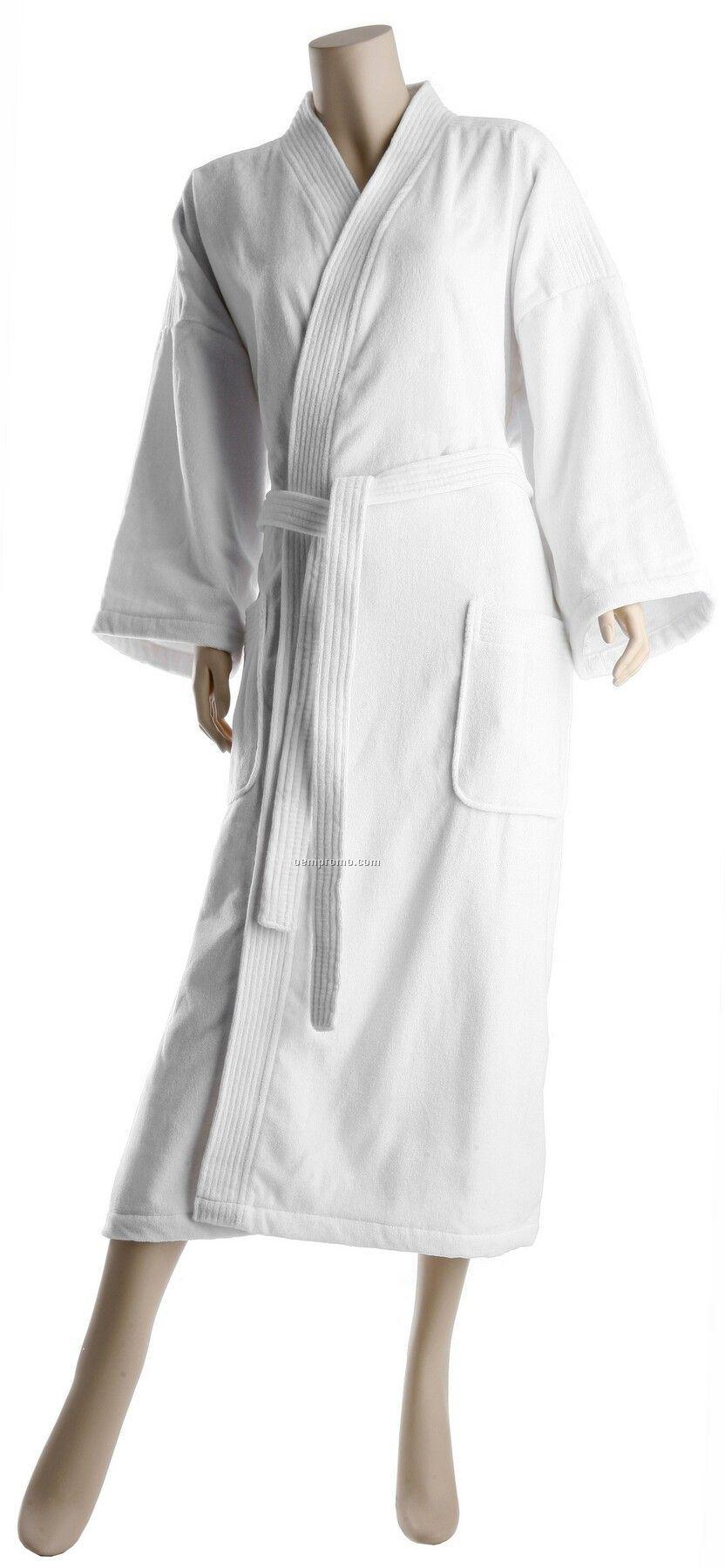 """48"""" XX-large Luxury Hotel Velour Kimono Robe"""