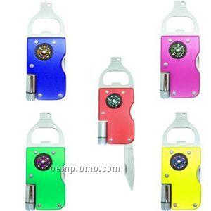 Bottle Opener Multi-tool W/LED Light And Compass
