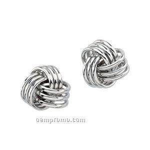 Ladies' 14kw 12x12 Knot Earring