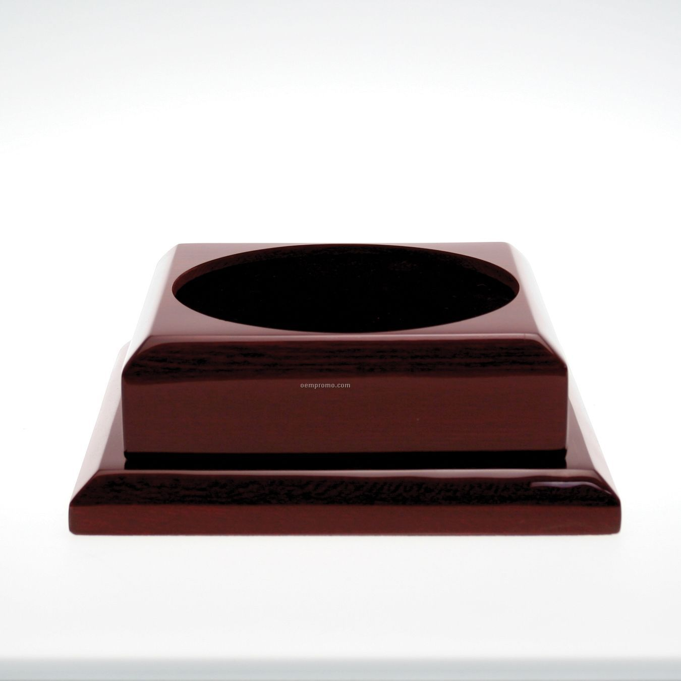 Medium Square Rosewood Base W/ Plain Brass Plate