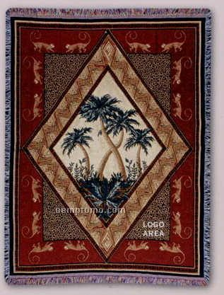 """Tapestry Stock Woven Throws - Tropical Escape (53""""X67"""")"""