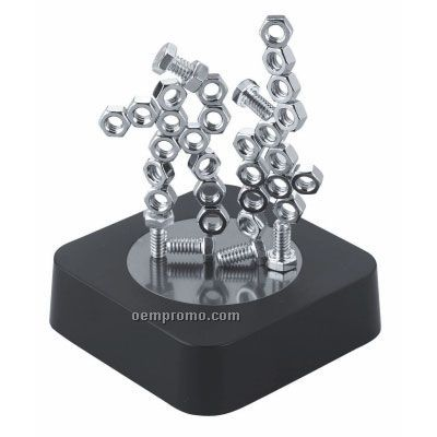 Magnetic Sculpture Block (Nuts & Bolts)
