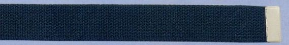 Plain Web Belt With Adjustable Leather Tip (Hunter)