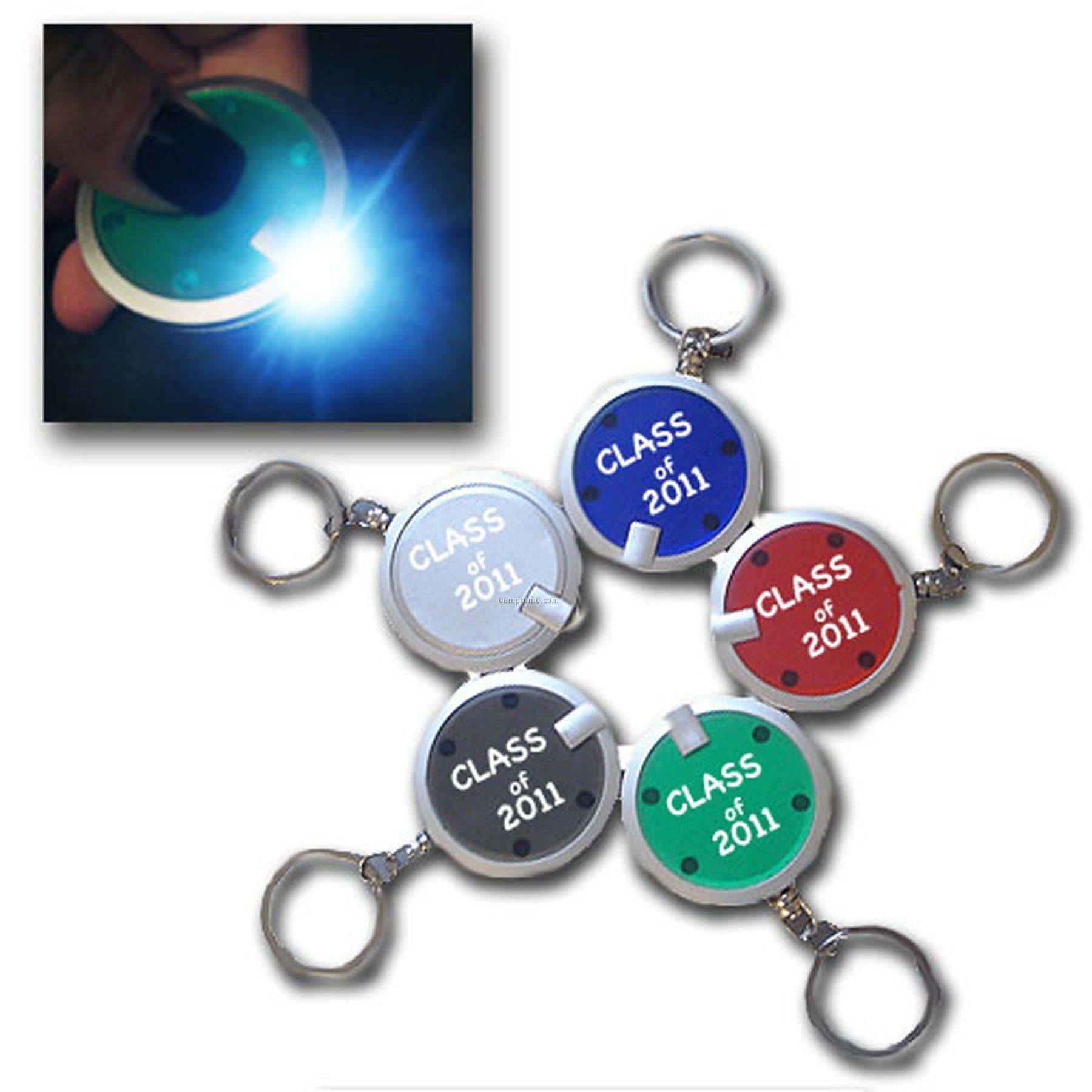 Premium Round LED Keychain
