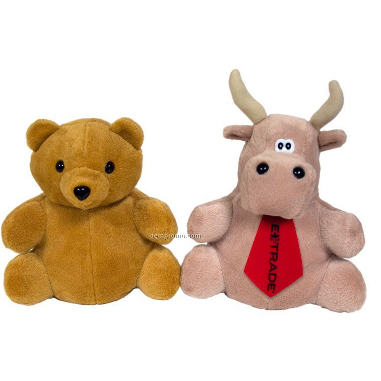 Reversible Puppet: Bear/Bull-tan