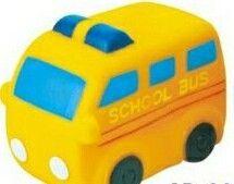 Rubber School Bus Toy