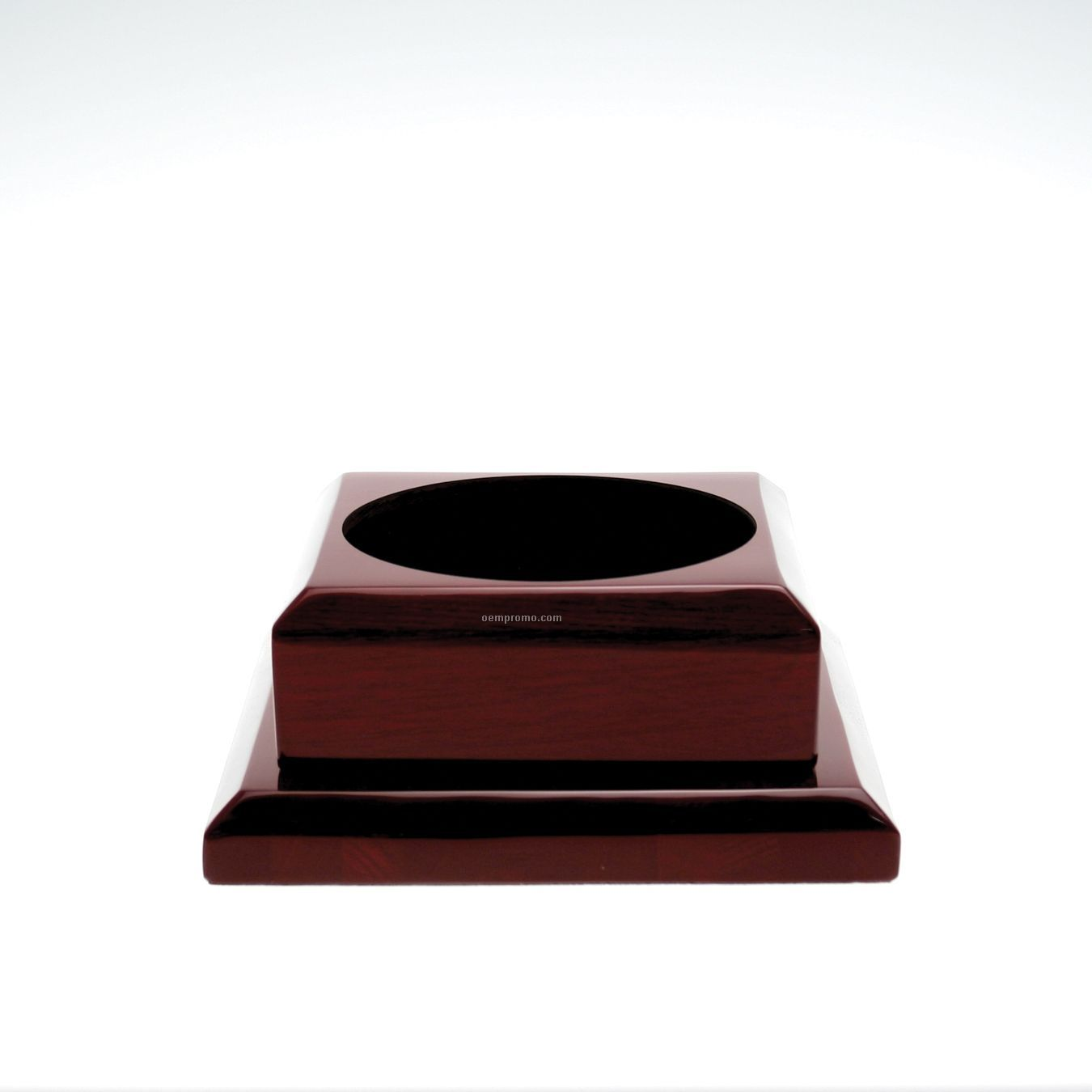 Small Square Rosewood Base W/ Plain Brass Plate