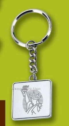 Value Line Square Key Ring (Laser Engraved)