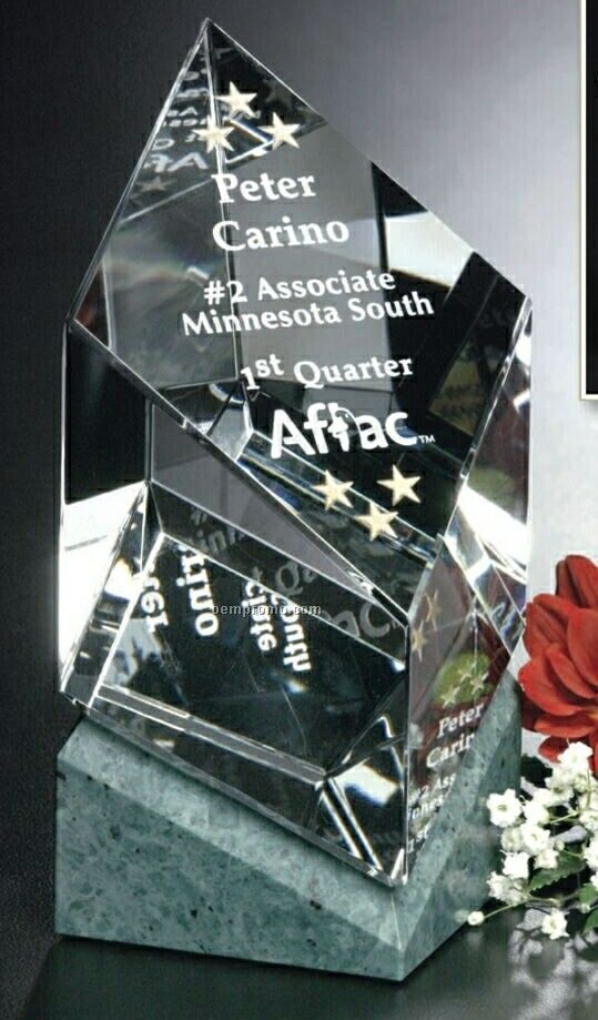 "Verde Gallery Crystal Vicksburg Award (5 1/2"")"